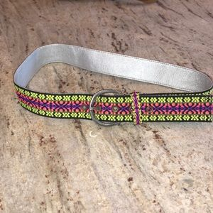 Girls Justice embroidered belt size medium